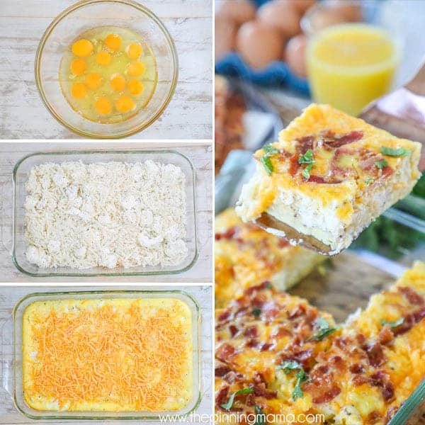 Easy Breakfast Dish: Easy Breakfast Casserole With Bacon • The Pinning Mama