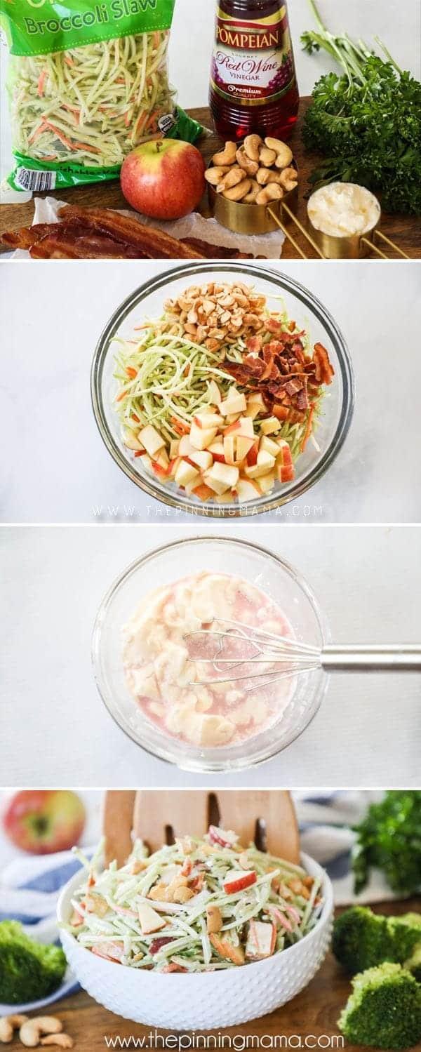 How to Make Whole30 Broccoli Slaw
