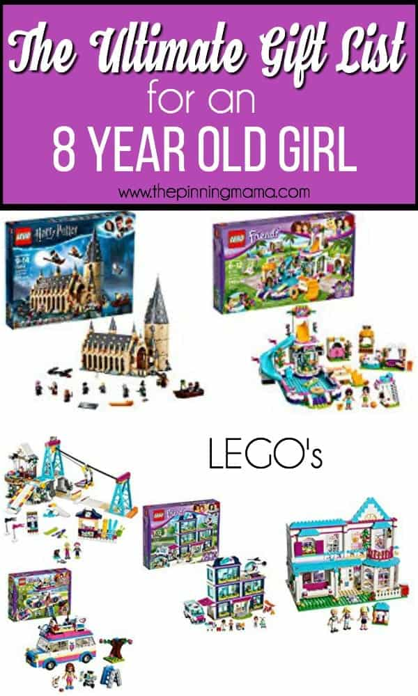 Gift guide for an 8 year old girl, lego's