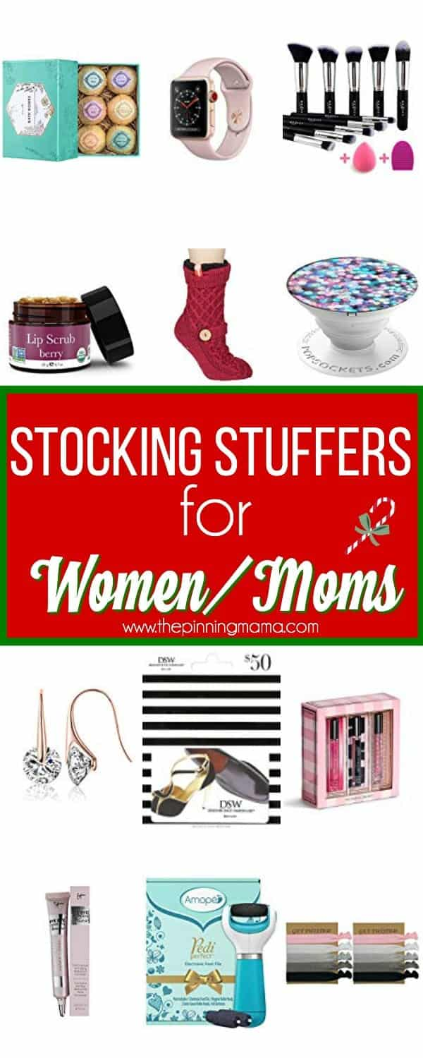 The big list of Stocking Stuffers for Women/Moms.