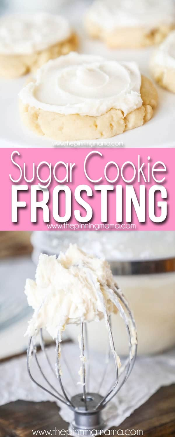 Frosted Sugar Cookie with Bowl of Sugar Cookie frosting
