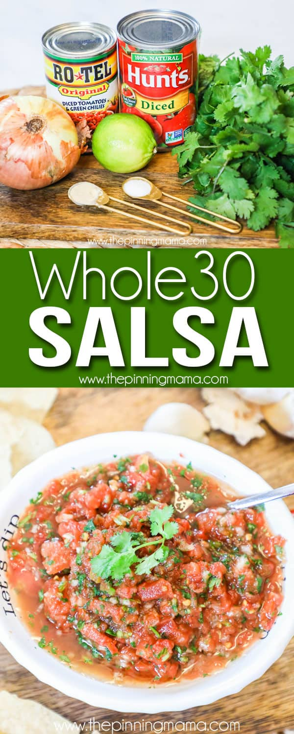 Quick, Delicious and easy Whole30 Salsa.
