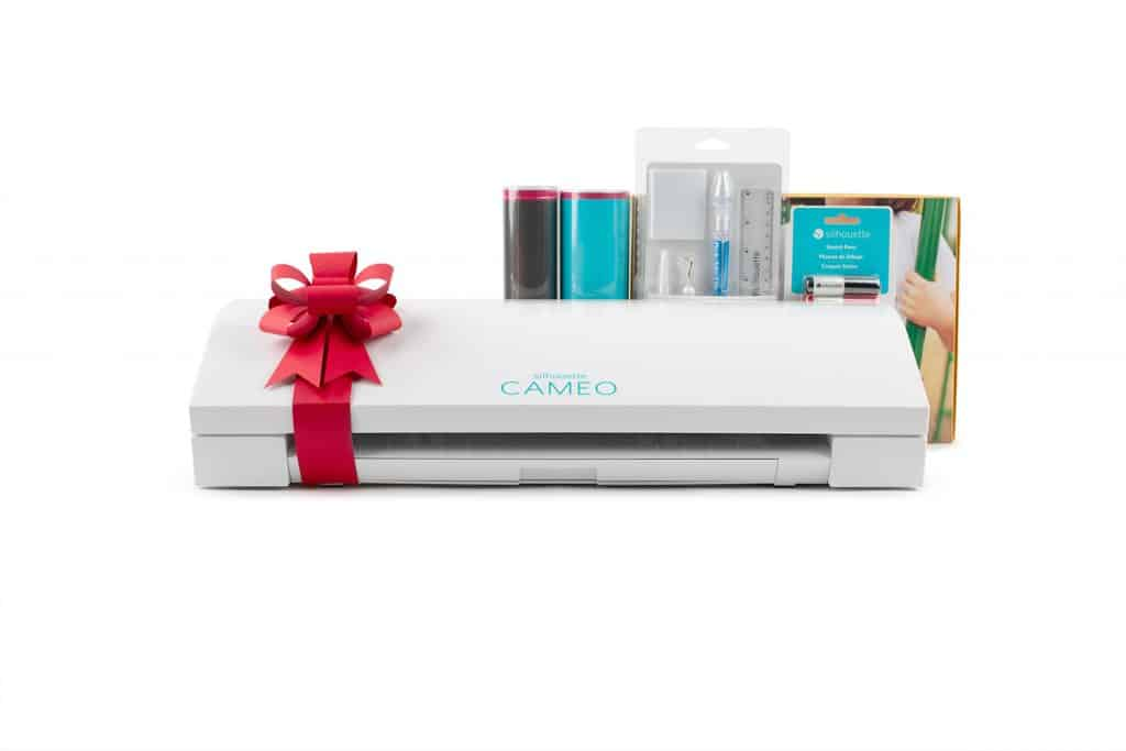 silhouette cameo 3 black friday 2018 bundle including Silhouette CAMEO in white, business edition software, exclusive digital downloads, vinyl starter kit, heat transfer starter kit, use coupon code PINNING at checkout!