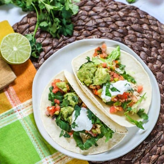 Recipe for crockpot chicken tacos.