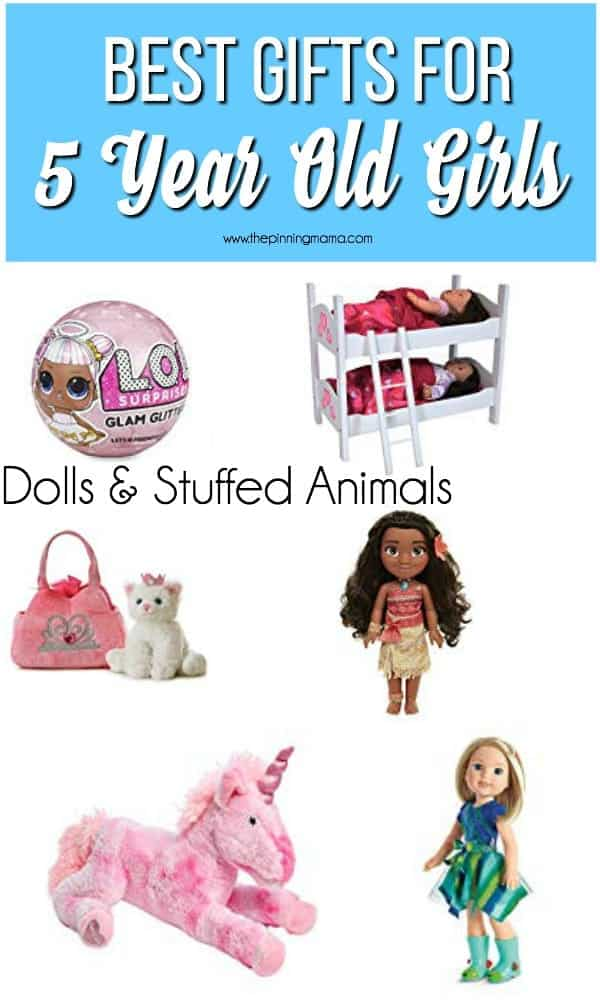Best Gift Ideas For 5 Year Old Girls Dolls Stuffed Animals
