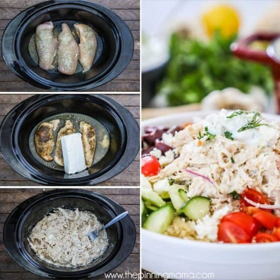 The best crockpot greek chicken.
