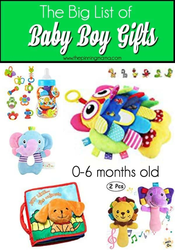 Big List of Baby Boy gifts for 0-6 months old