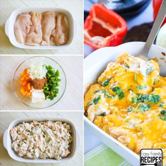 Baked Creamy Chicken Fajitas - Step by Step