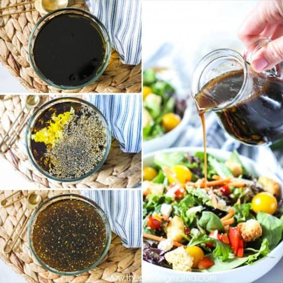 Next time you're in the mood for a salad, make this delicious Homemade Balsamic Vinaigrette for it.