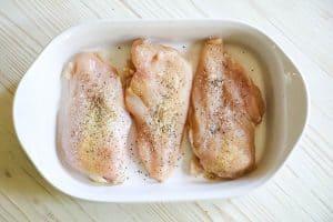 Honey Mustard Chicken Step 1: Season the chicken
