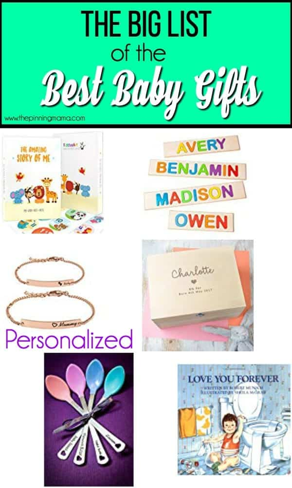 The Big List of Personalized Baby Gifts