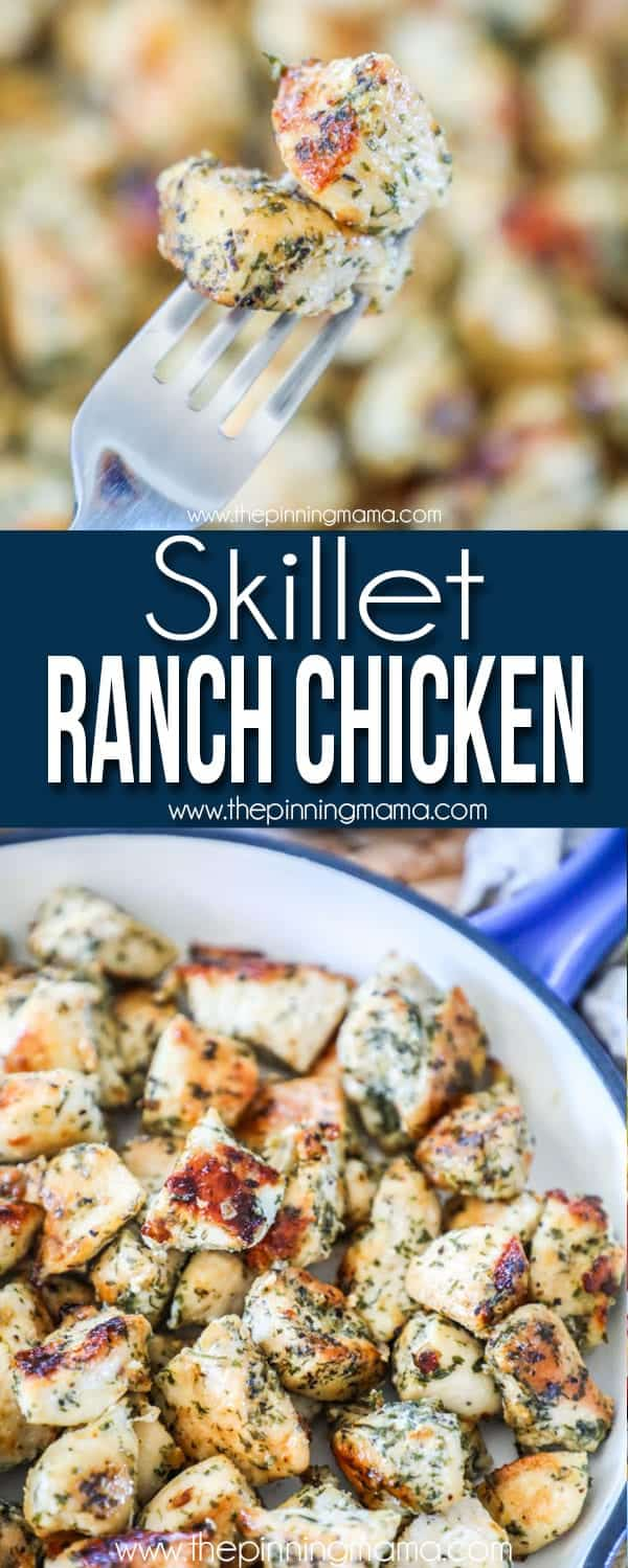 Skillet Ranch Chicken is one of the best quick meals.