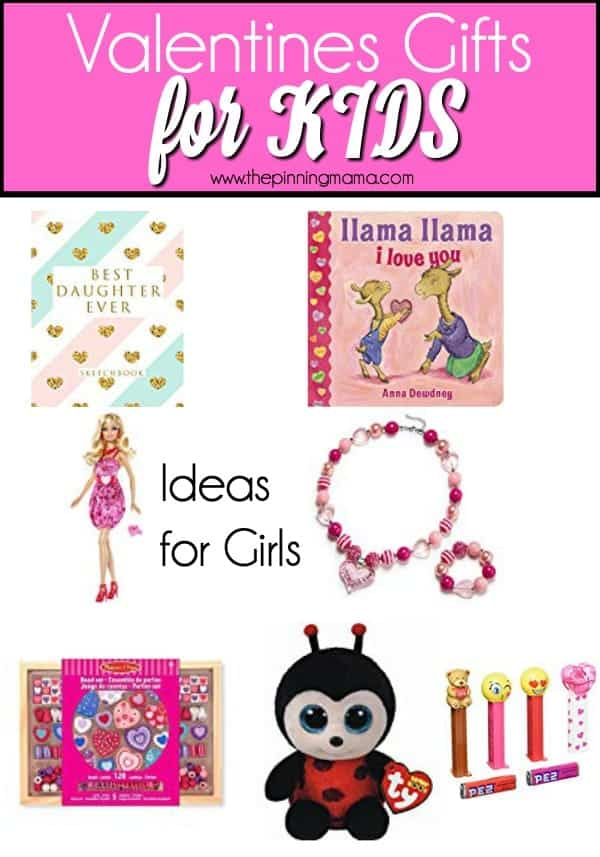 Fun gift ideas for girls on Valentines Day.