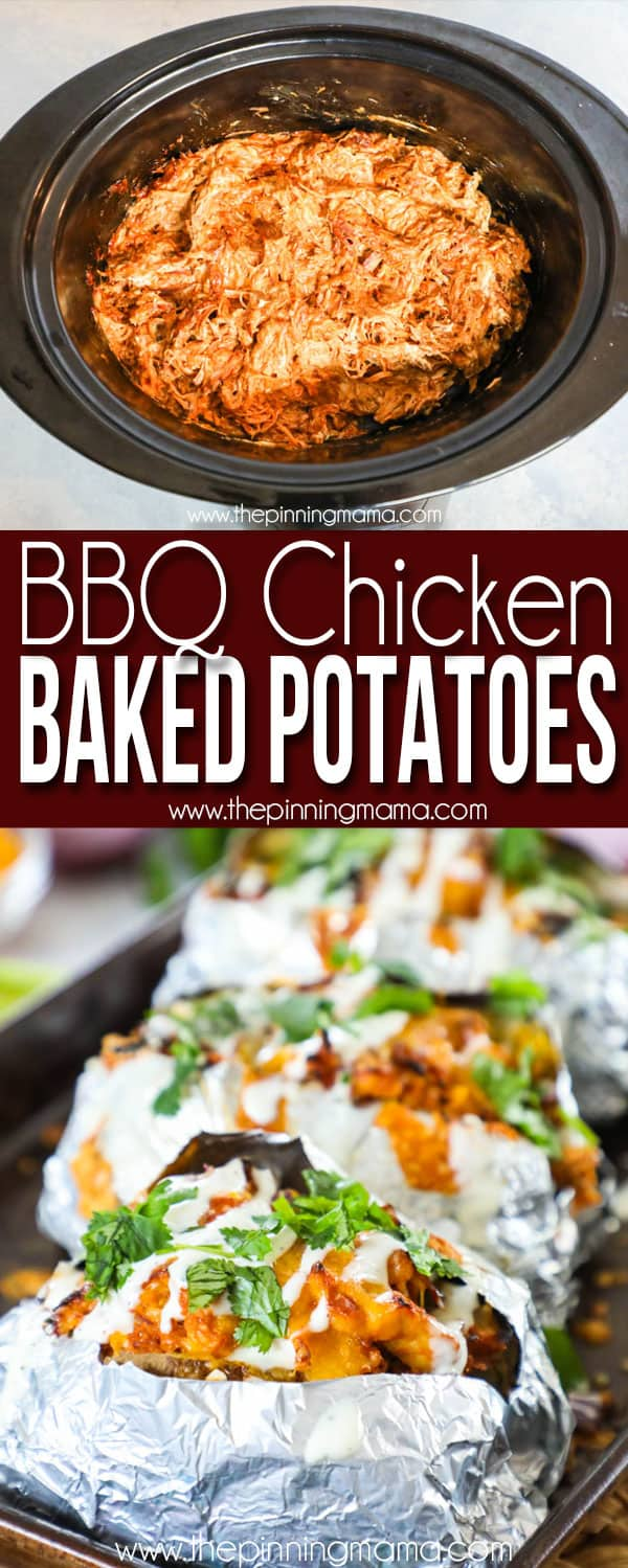 BBQ Chicken Baked Potatoes are a perfect weeknight dinner.