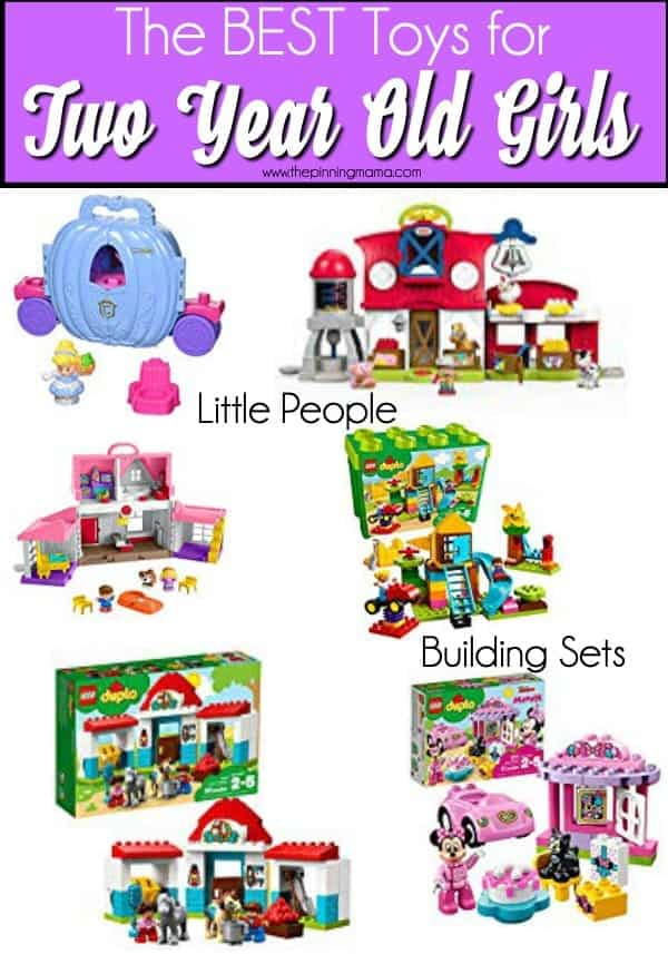 The Big List of building sets and little people toys for 2 year old girls.