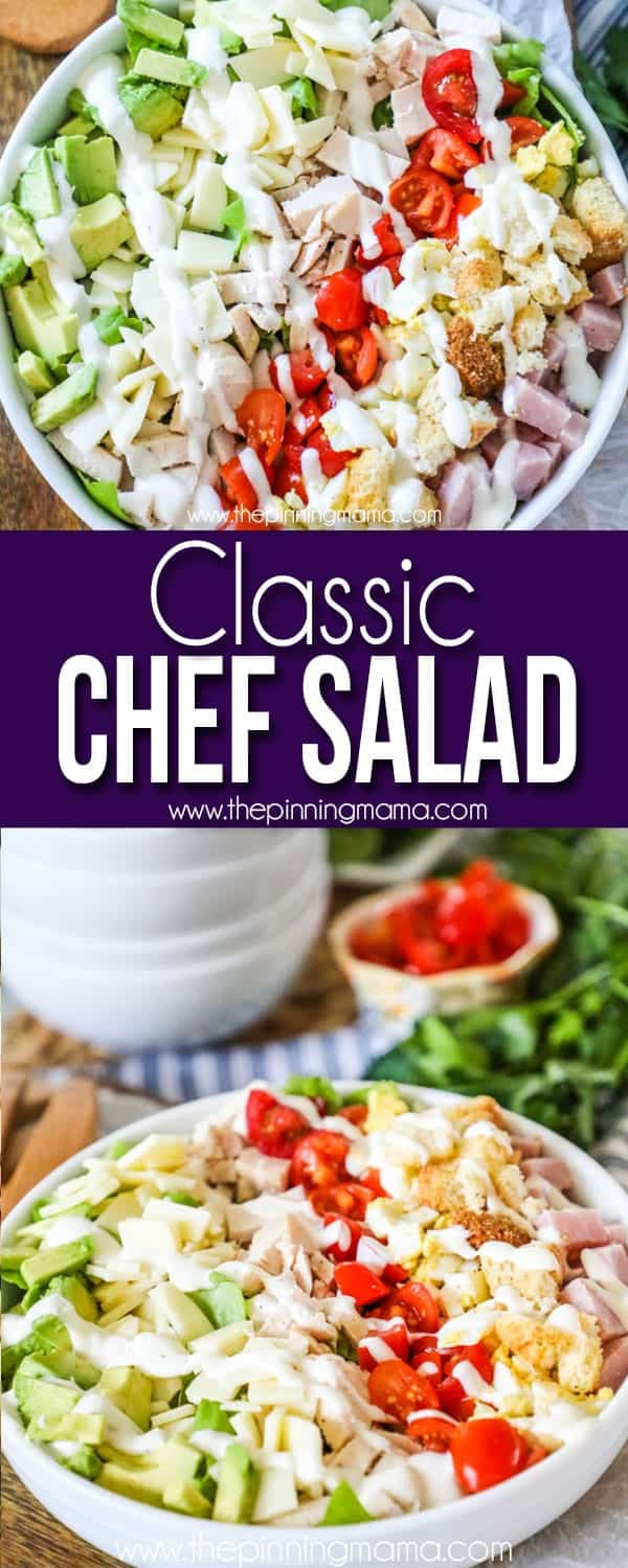 This chef salad is super delicious and easy to make.