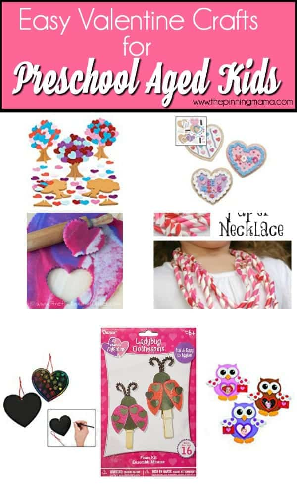 Easy Valentine Crafts for Preschool Aged Kids