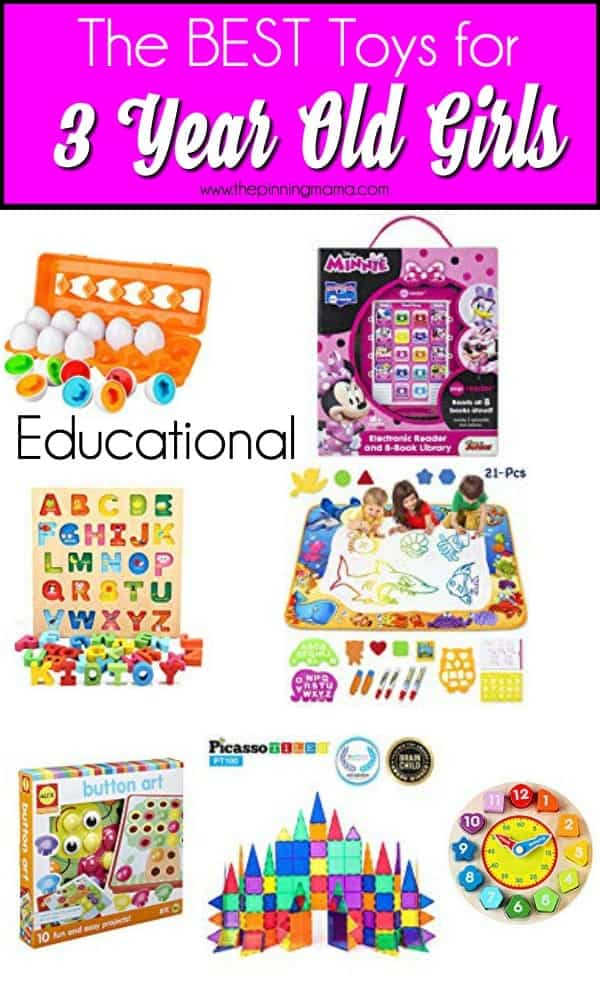 The BEST Educational toys for 3 year old girls.
