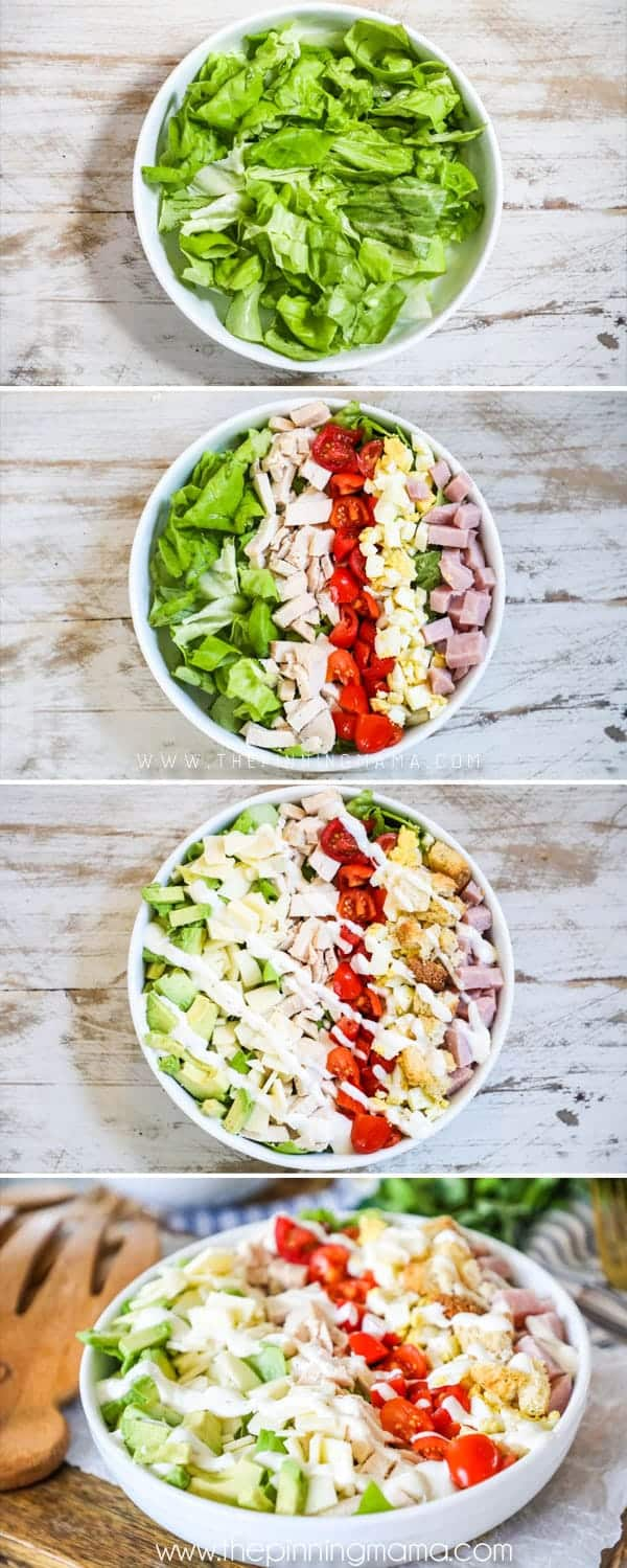 How to make a chef salad.