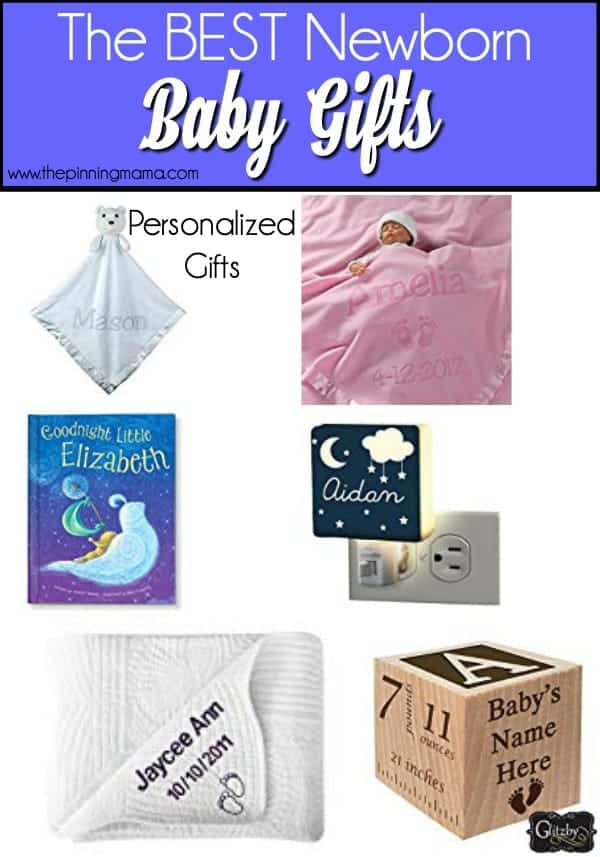 The Big List of Personalize Newborn Baby Gift Ideas.