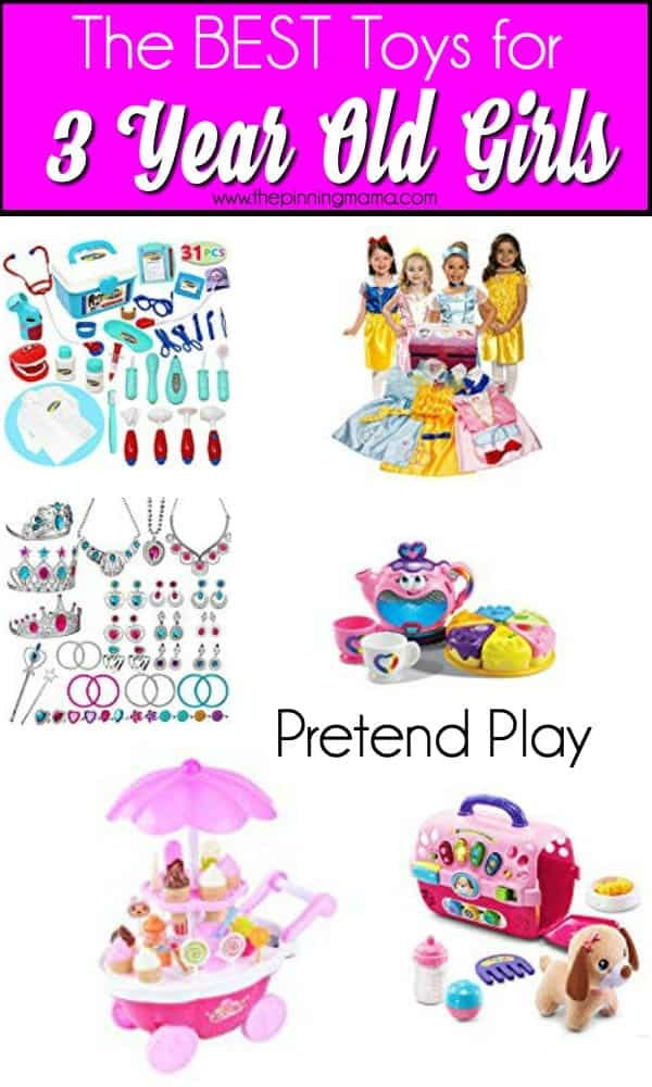 The Best Toys for 3 year old girl for pretend play.