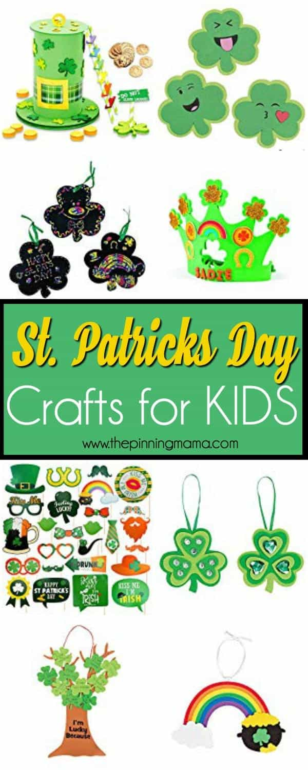 The BIG List of St Patricks Day Crafts for KIDS.