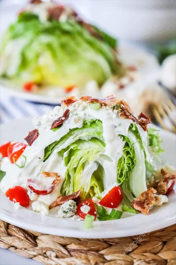 Steakhouse Wedge Salad is loaded with flavors and delicious.