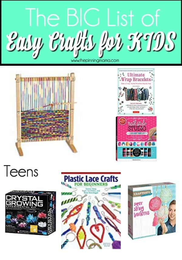 The BIG List of Crafts for Kids