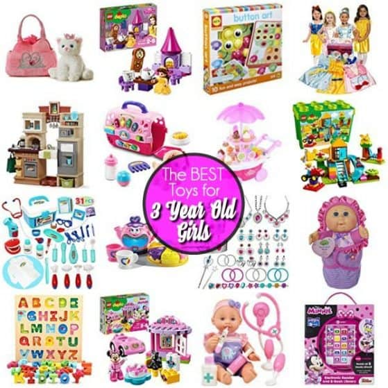 The BIG list of toys for 3 year old girls, perfect for Christmas and Birthdays.