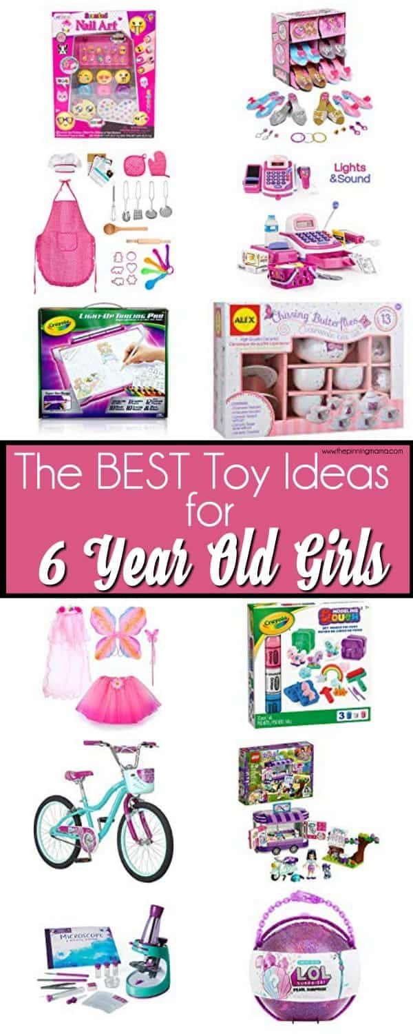 The BIG list of toys for 6 year old girls, perfect for Christmas and birthdays.