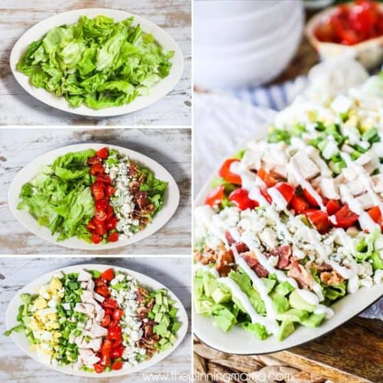 Cobb salad is super easy and full of flavor.