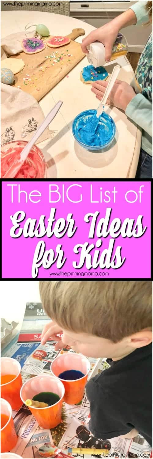 Ideas for Kids during Easter, ways to keep them busy and active during the holidays.