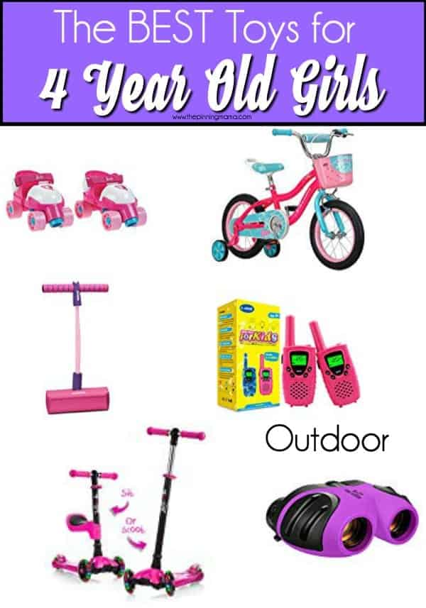 The BIG list of outdoor toys for 4 year old girls.