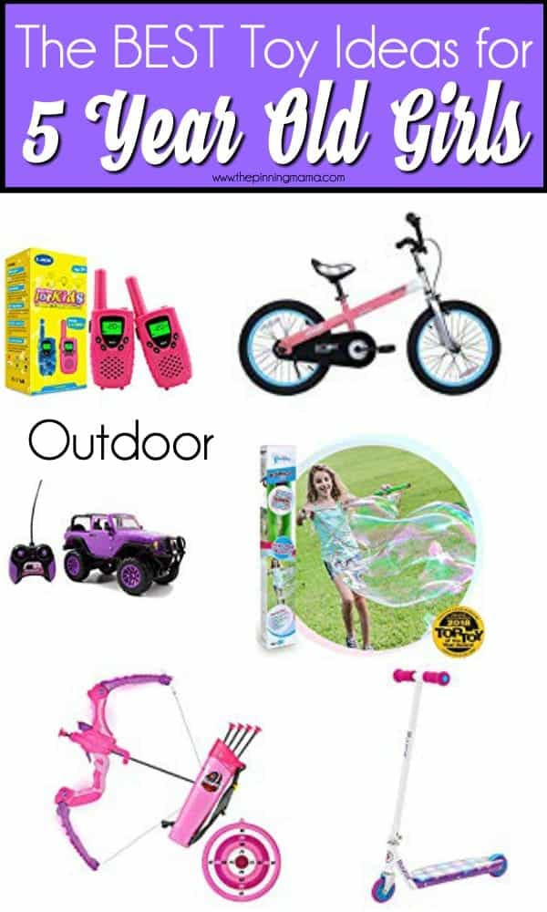 The BEST list of outdoor toys for 5 year old girls.