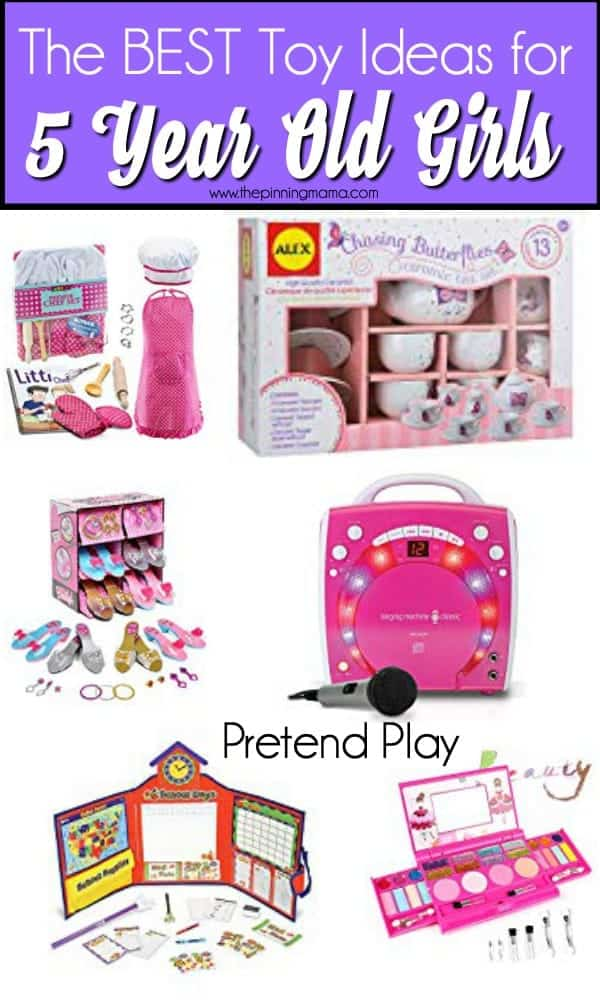 The BEST List of pretend play toys for 5 year old girls.