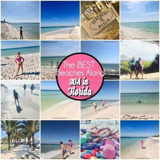 The BEST list of Beaches along 30A with Kids