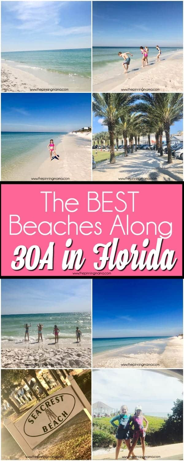 The BEST Beaches along 30A for Families