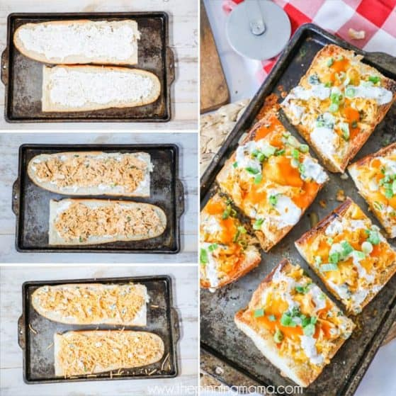 Delicious and easy to make Buffalo Ranch French Bread Pizza