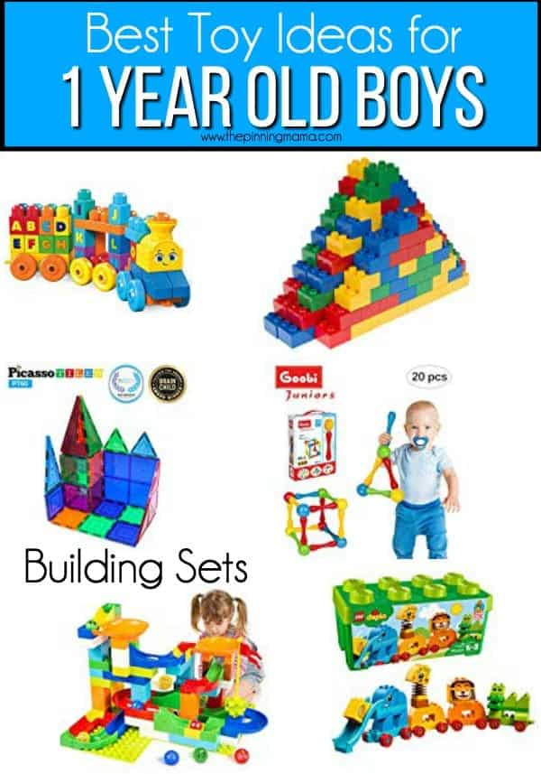 The Best list building sets toys for 1 year old boys.