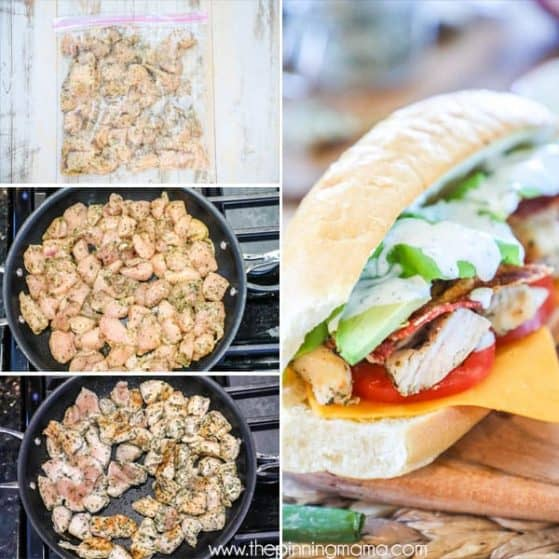 Chicken Bacon Ranch Subs are perfect for weeknight meals with the family.