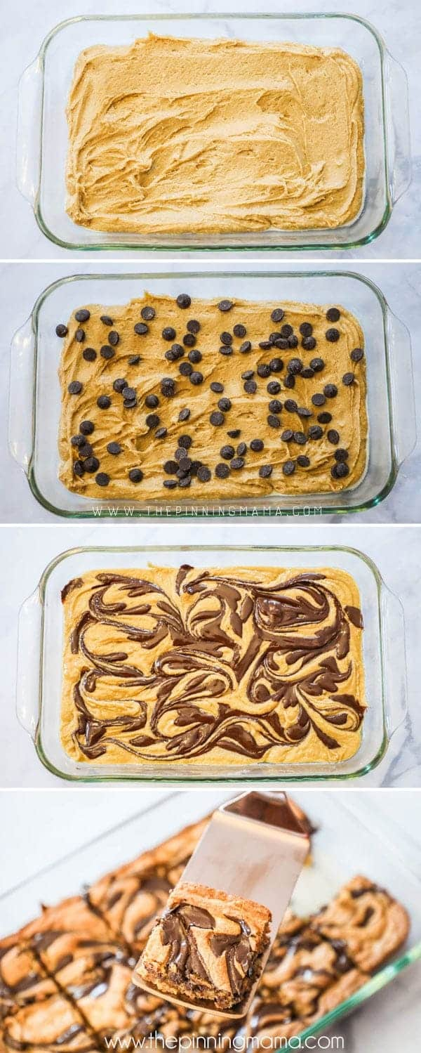 Steps to making DELICIOUS Peanut Butter Bars.