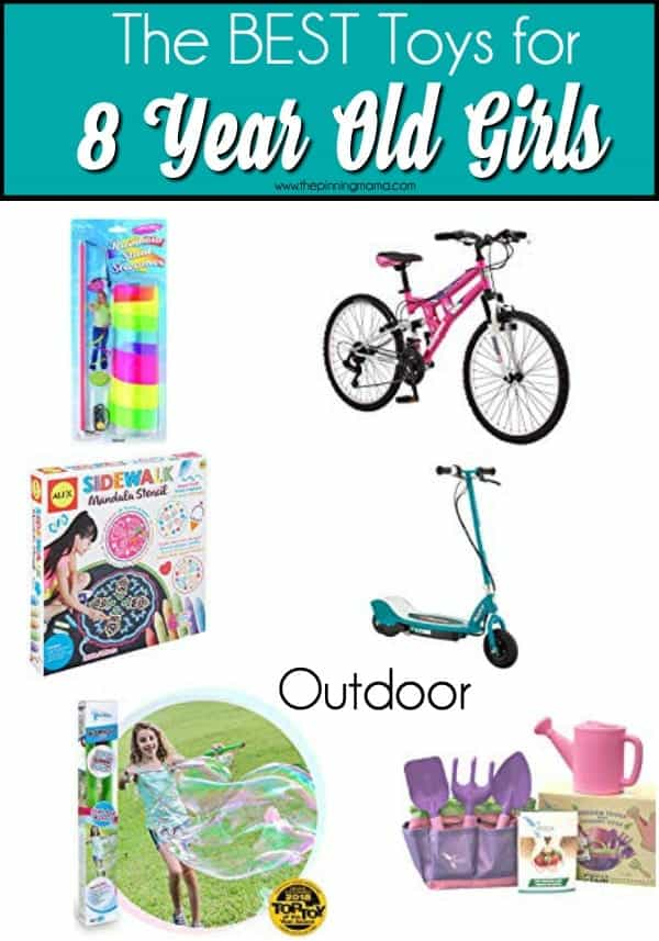 The BEST outdoor toy ideas for 8 year old girls.