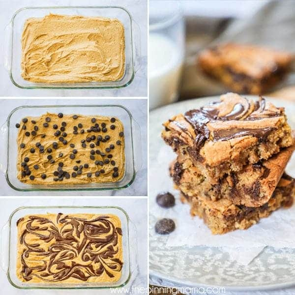 Peanut Butter Bars are quick and easy to make.