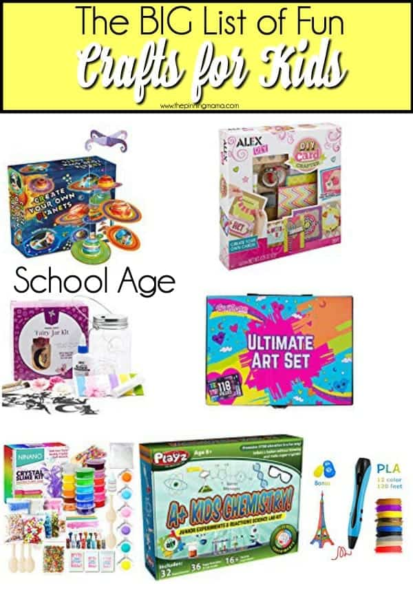 Fun School Aged crafts for kids.