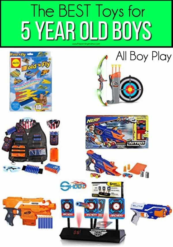 The BEST All boy play toys for 5 year old boys.