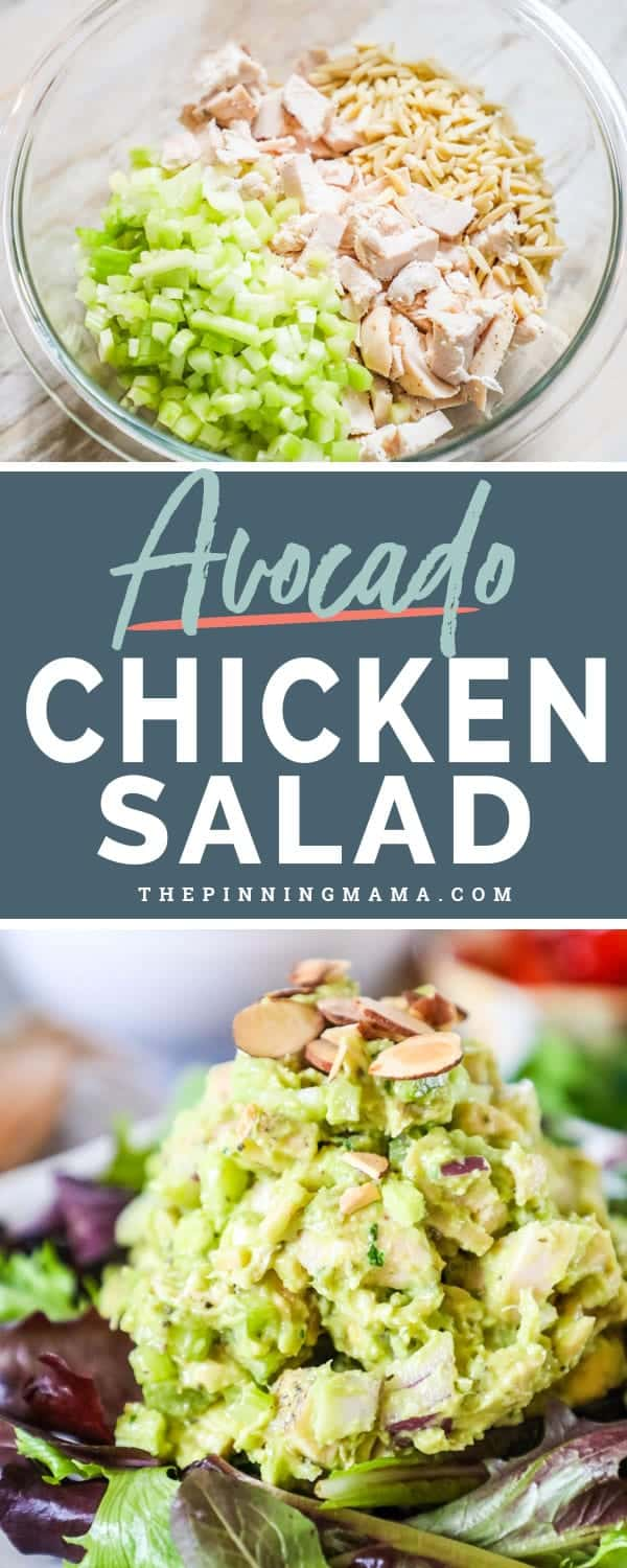 Avocado chicken salad is easy and less calories than normal chicken salad.