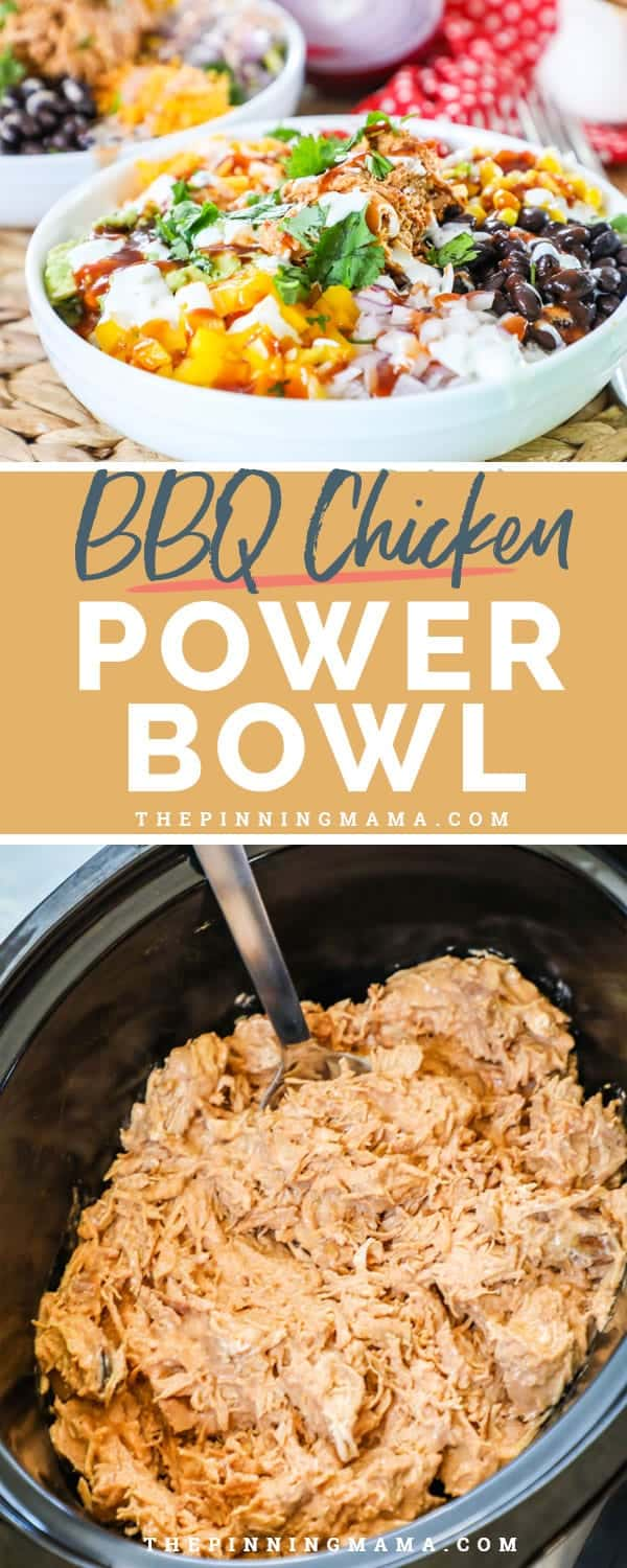 Wholesome and delicious BBQ Chicken Power bowl.