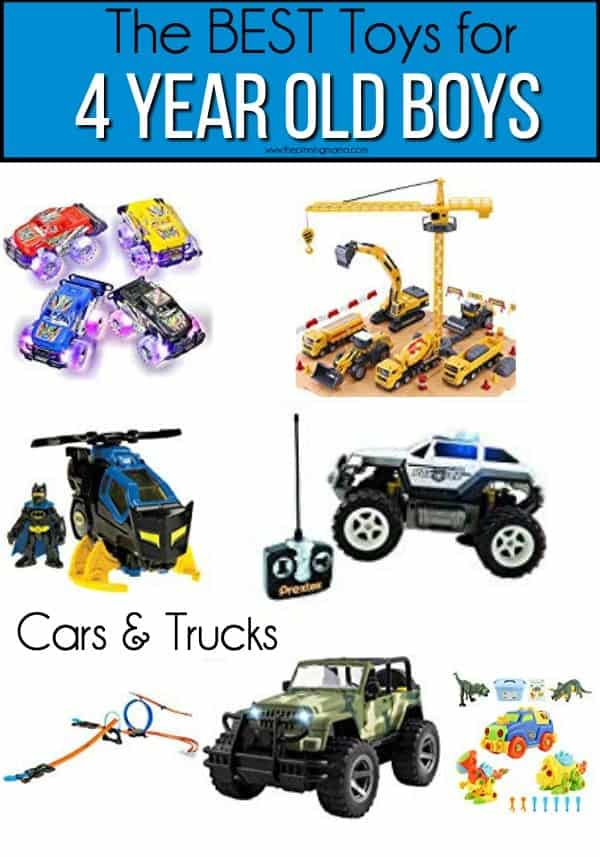 The BEST Car and Truck Ideas for 4 year old boys.