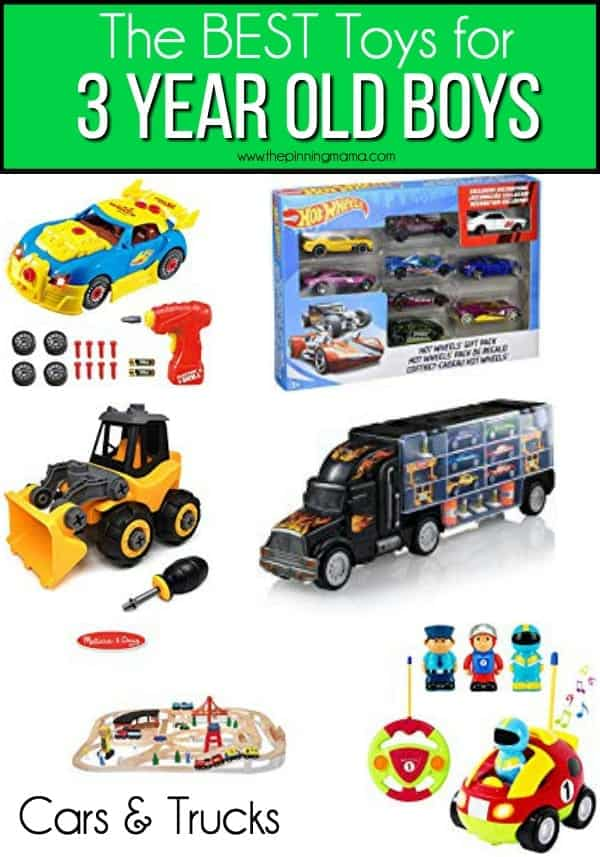 The BEST Cars and trucks for 3 year old boys.