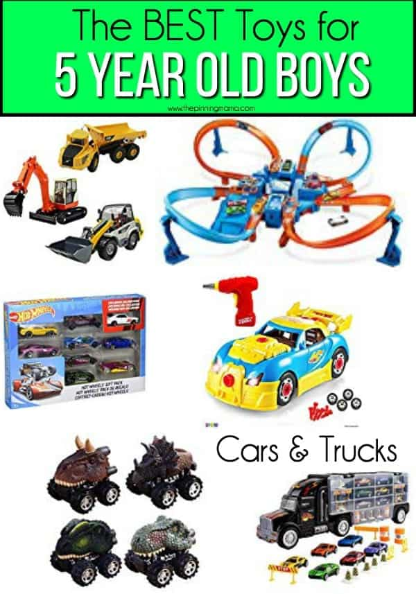 The BEST Cars and Trucks for 5 year old boys.